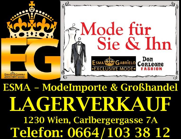 Esma Gabrielo Mode für Sie & Ihn Großhandeöl Lagerverkauf Wien
